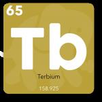 Terbium bruges i telefonens skærm