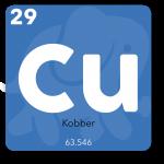 Kobber bruges i telefonens processor, kontakter, kasse og printplade
